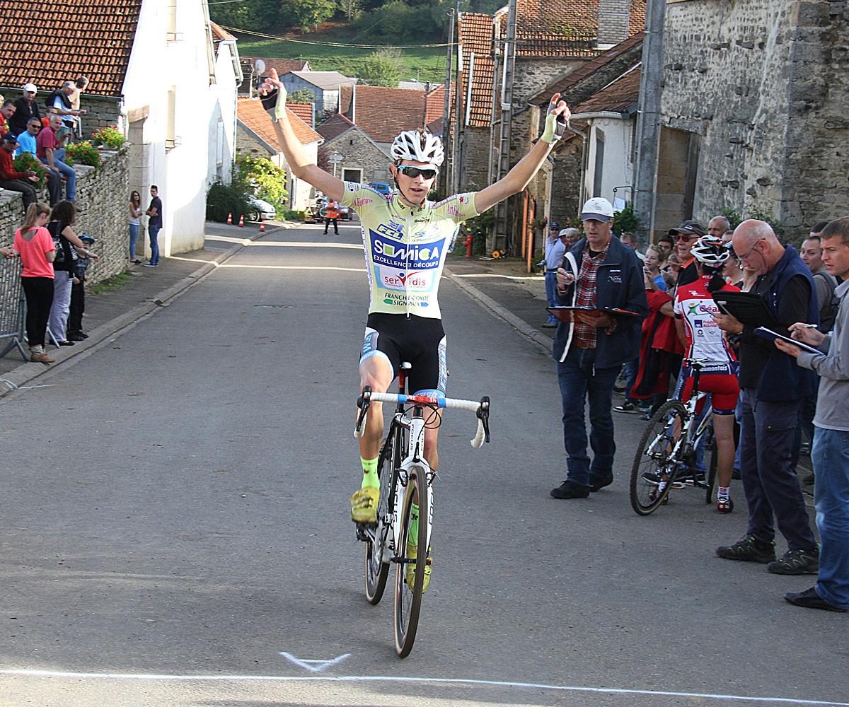 Au cyclo cross de Hortes (Champagne), victoire de Thomas SEYZERIAT (PS GIVRAUVAL) devant Aurélien PHILIBERT (AC Bisontine)