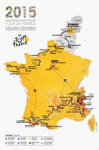 Carte du TdF 2015