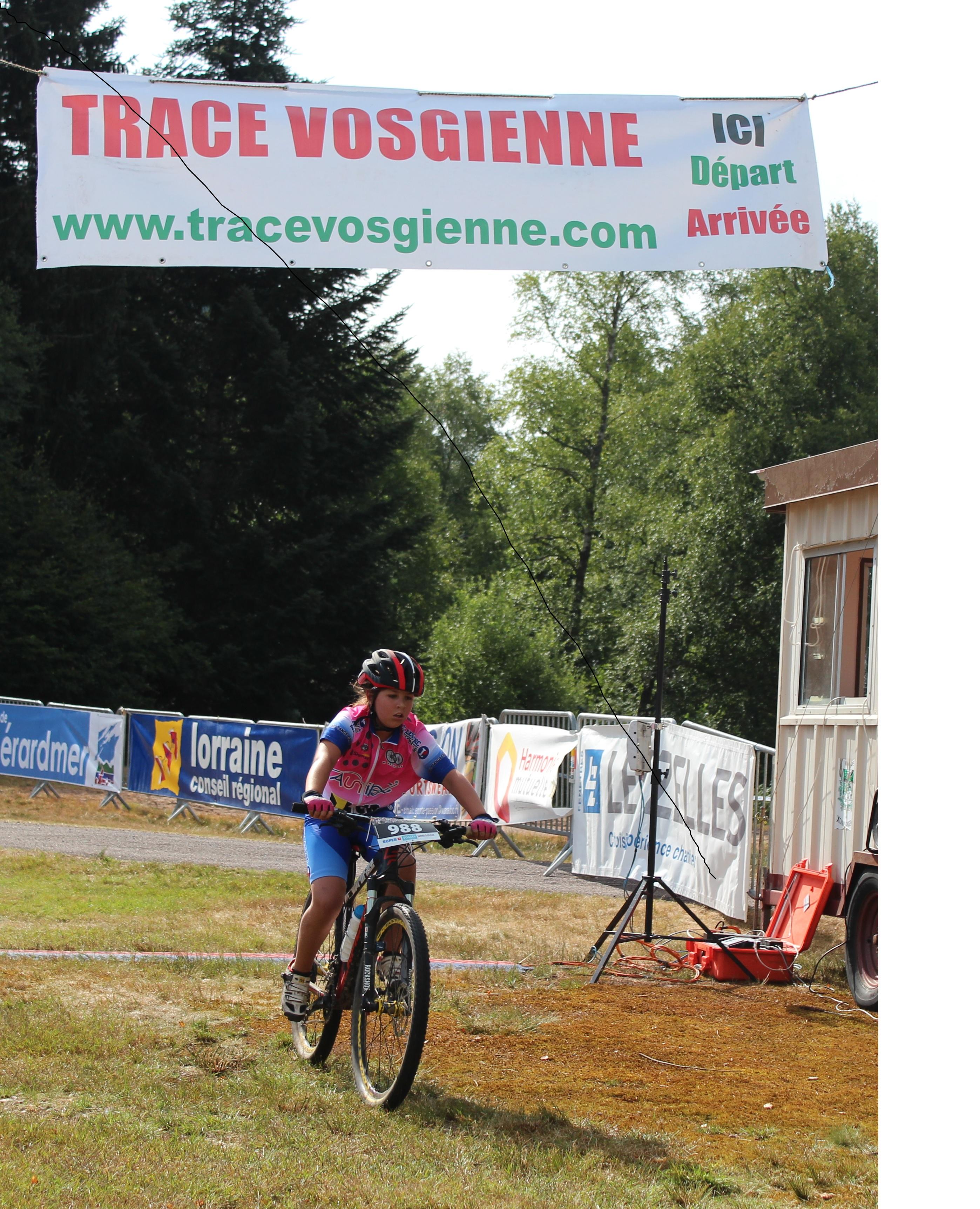 VTT «La Trace Vosgienne» à Xonrupt  : dans la catégorie Pupilles – Claire Zeimeth l'emporte chez les Filles et Paul Smykowski se classe second chez les Garçons