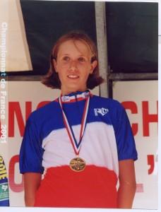 Alexandra Flammand Championne de France Cadettes 2001