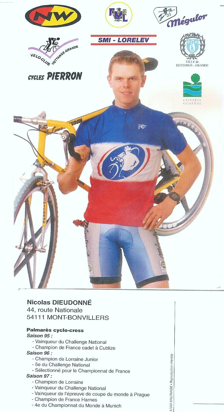 1997 – Route des Vins – Manche du Challenge National Junior – Victoire de Nicolas Dieudonné (VC Hettange Grande)