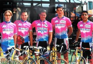 VC Hettange au Tour de Namur 1992 avec Didier Morhain - Stéphane Rit - Cyril Michel - Guillaume Thisse et Karim Mehdi