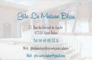Maison Bleue Manue Riche à St Nabor 1