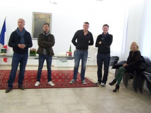 Les Élus Messieurs Roland Balcerzak, David Robinet, Oliver Vigneron et Mathieu Vigneron ainsi que Madame Nadine Gallina